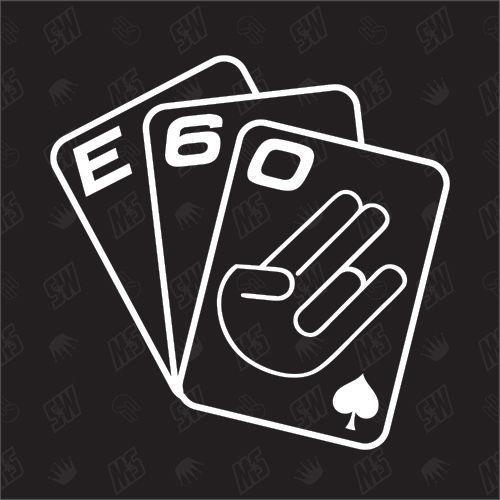 Spielkarten BMW E60 - Sticker
