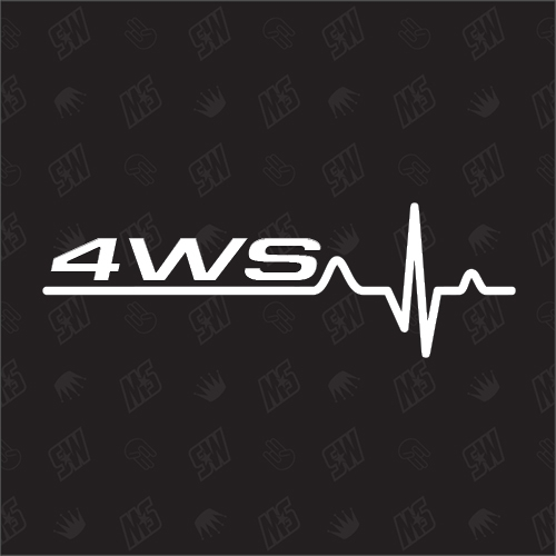 4WS Herzschlag - Sticker kompatibel mit Audi, VW, Subaru