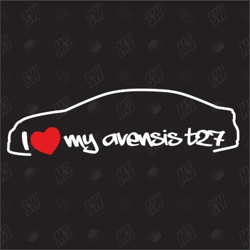I love my Toyota Avensis T27 Limousine - Sticker, ab Bj. 15, Facelift