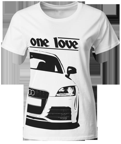 Tuning Szene T-Shirt, Woman, Audi TT 8J, weiß