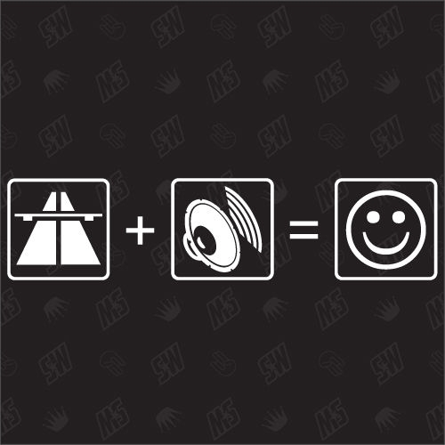 Autobahn + Bass = Smile - Sticker