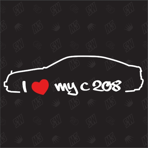 I love my Mercedes C208 - Sticker, CLK Bj 97-02, Coupé