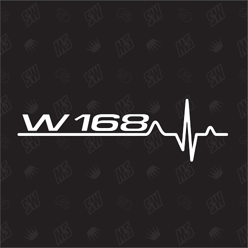 W168 Herzschlag - Sticker kompatibel mit Mercedes Benz