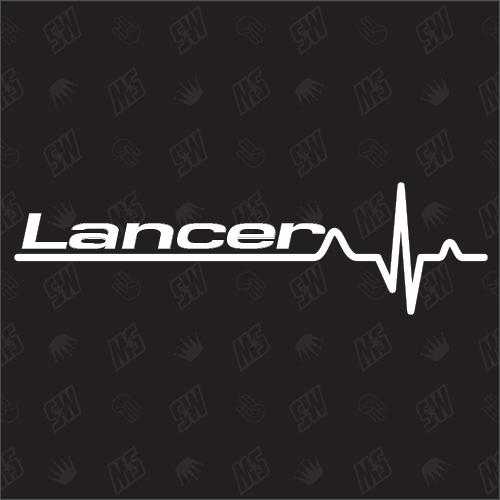 Mitsubishi Lancer Herzschlag - Sticker