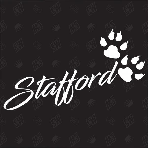 Stafford - Sticker, Hundesticker, Pfoten