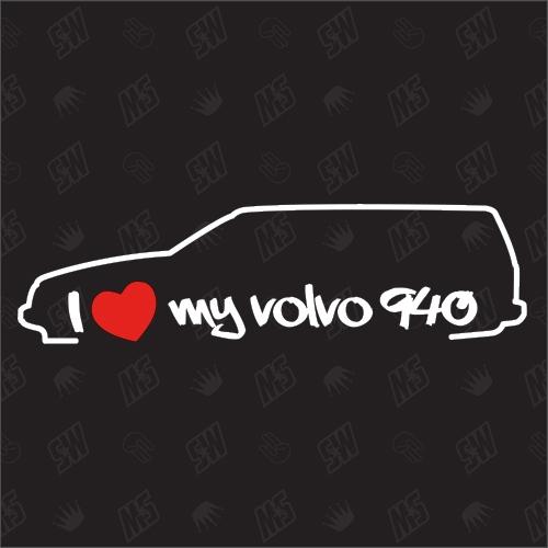 I love my 940 Kombi - Sticker kompatibel mit Volvo - Baujahr 1990 - 1994