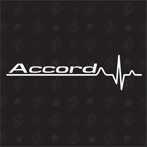Honda Accord Herzschlag - Sticker