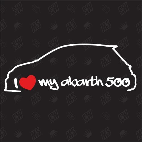 I love my Fiat 500 Abarth - Sticker ab Bj.15, Model 595