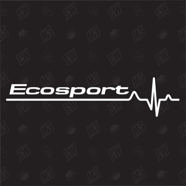 Ford Ecosport Herzschlag - Sticker
