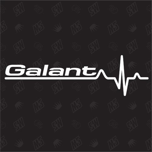 Mitsubishi Galant Herzschlag - Sticker
