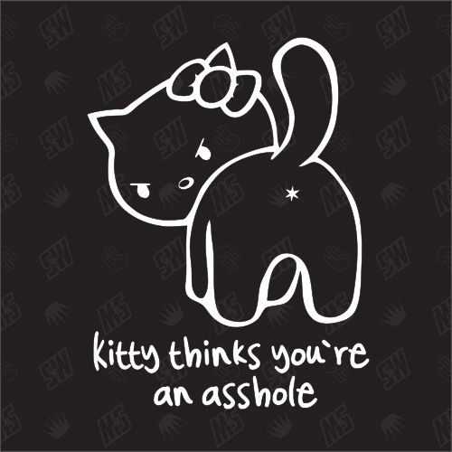 Kitty thinks you're an asshole - Sticker