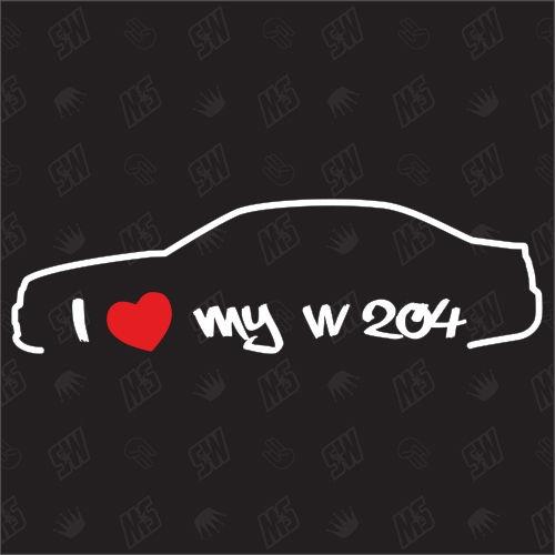 I love my Mercedes W204 - Sticker, Bj. 07-15