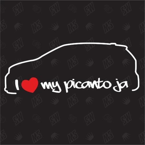 I love my Kia Picanto JA - Sticker, ab Bj. 17