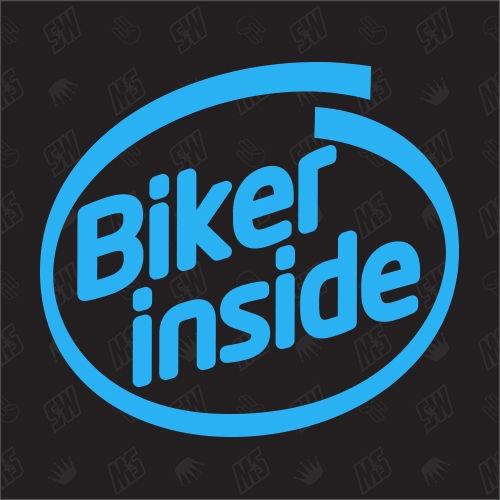 Biker inside - Sticker