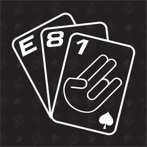 Spielkarten BMW E81 - Sticker