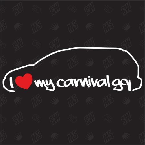 I love my Kia Carnival GQ - Sticker, Bj. 01-05