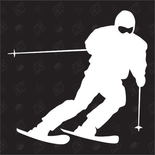 Skifahrer - Sticker