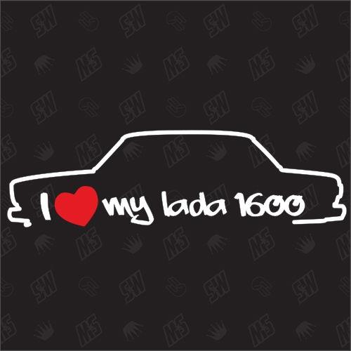 I love my Lada 1600 - Sticker