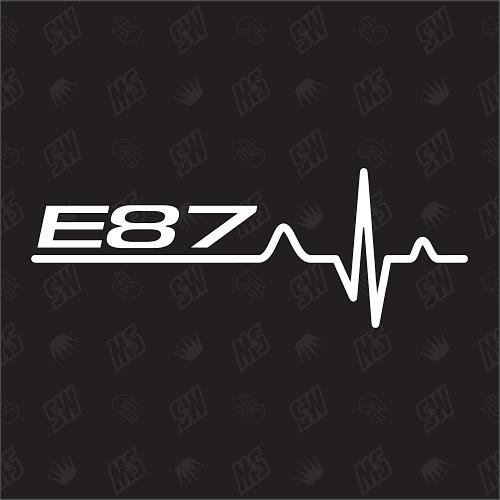 E87 Herzschlag - Sticker, Tuning Fan Aufkleber, BMW