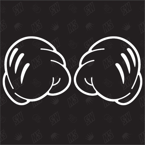 Boxing Mickey Hands - Sticker