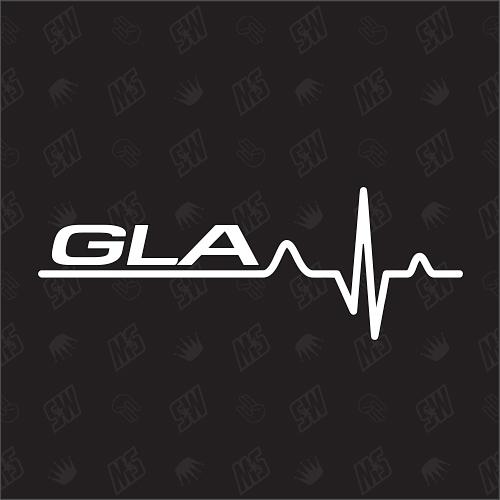 GLA Herzschlag - Sticker kompatibel mit Mercedes Benz