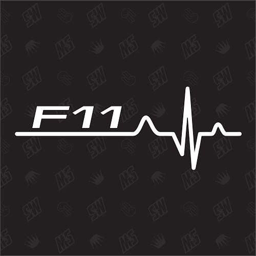 F11 Herzschlag - Sticker, Tuning Fan Aufkleber, BMW