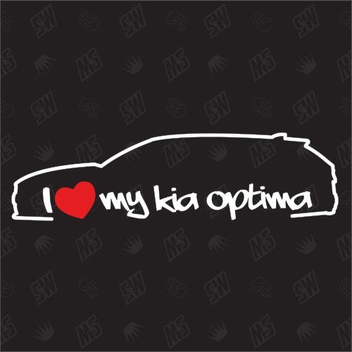 I love my Kia Optima Sportswagon - Sticker, ab Bj. 15, Kombi, JF