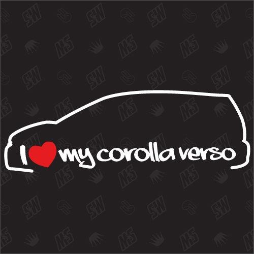 I love my Toyota Corolla Verso - Sticker , Bj 01-09