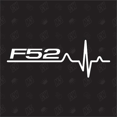 F52 Herzschlag - Sticker, Tuning Fan Aufkleber, BMW