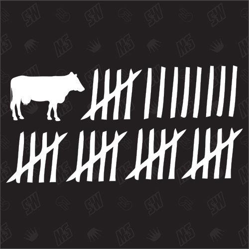 Kuh Strichliste - Sticker