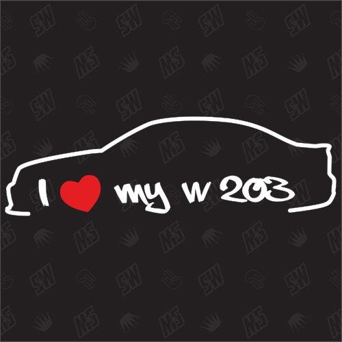 I love my Mercedes W203 - Sticker, Bj 00-07