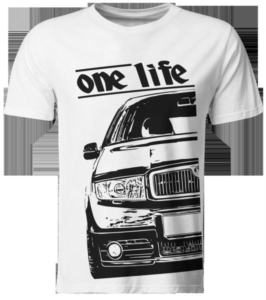 one life - T-Shirt / Skoda Fabia 6Y RS