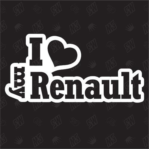 I love my RENAULT - Sticker