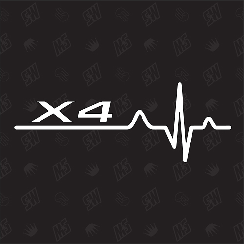 X4 Herzschlag - Sticker