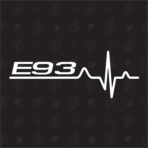 E93 Herzschlag - Sticker, Tuning Fan Aufkleber, BMW