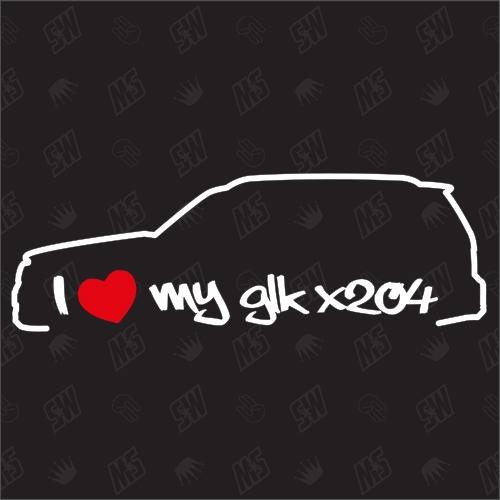 I love my Mercedes GLK X204 - Sticker, Bj 08-15