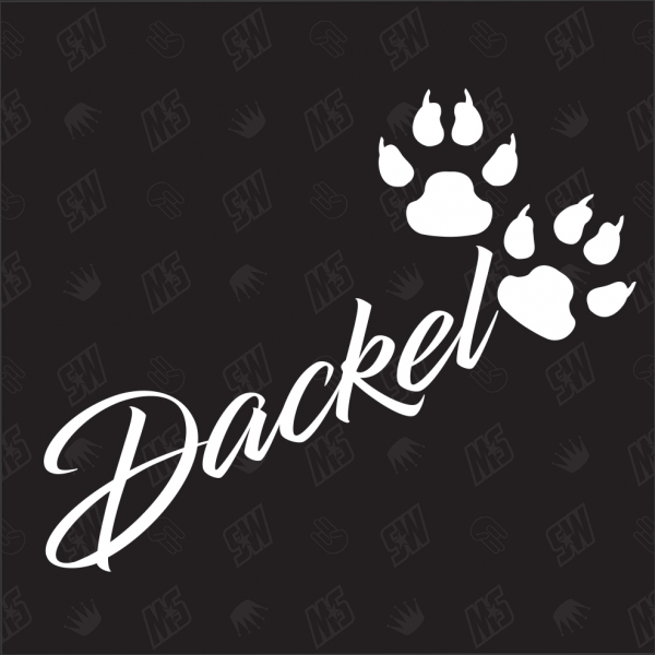 Dackel - Sticker, Hundesticker, Pfoten