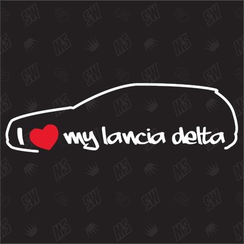 I love my Lancia Delta Silouette - Sticker BJ 2010