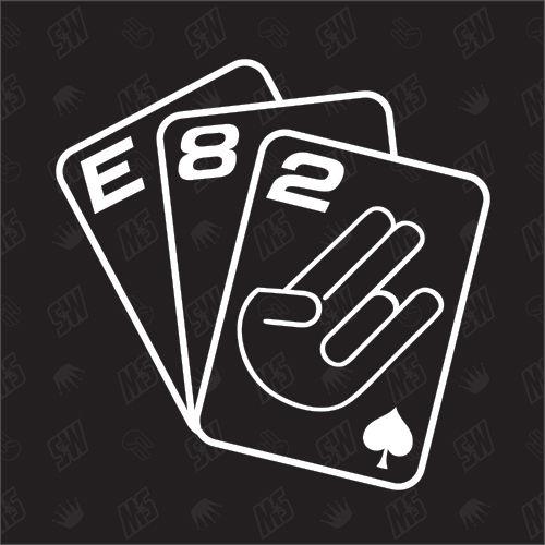 Spielkarten BMW E82 - Sticker