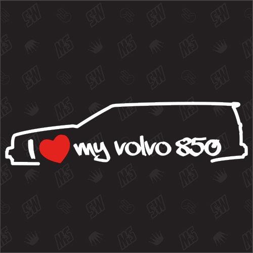 I love my 850 Kombi - Sticker kompatibel mit Volvo - Baujahr 1993 - 1996