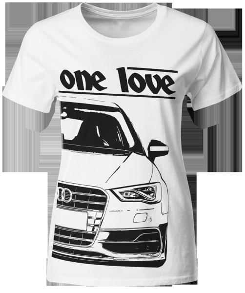 one love - T-Shirt -Audi S3 8V