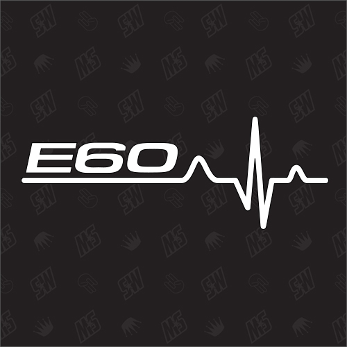 E60 Herzschlag - Sticker, Tuning Fan Aufkleber, BMW