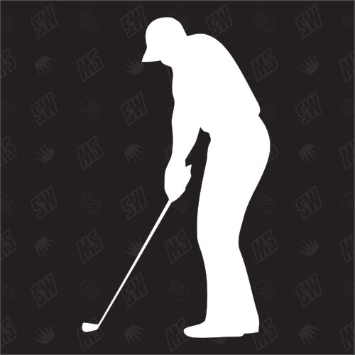 Golf - Sticker, Golfspieler