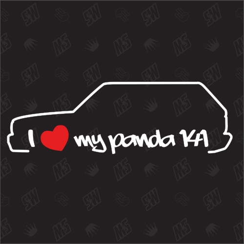 I love my Fiat Panda 141 - Sticker Bj.1980 - 2003