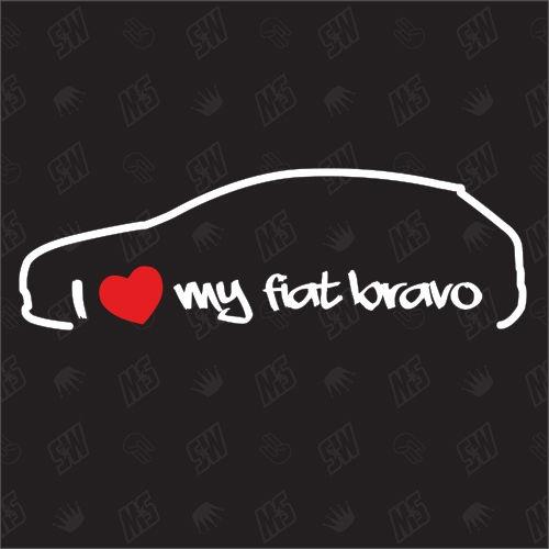 I love my Fiat Bravo - Sticker Bj .95-98, Typ 182