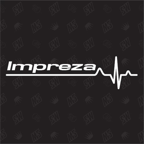 Subaru Impreza Herzschlag - Sticker