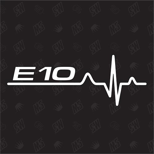 E10 Herzschlag - Sticker, Tuning Fan Aufkleber, BMW