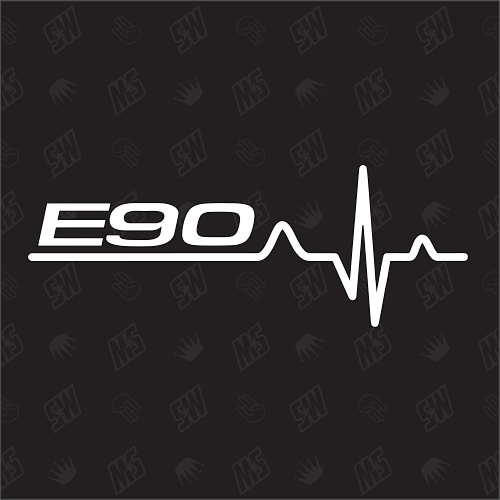 E90 Herzschlag - Sticker, Tuning Fan Aufkleber, BMW