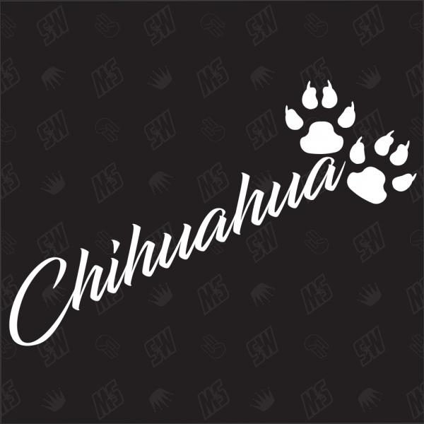 Chihuahua - Sticker, Hundesticker, Pfoten