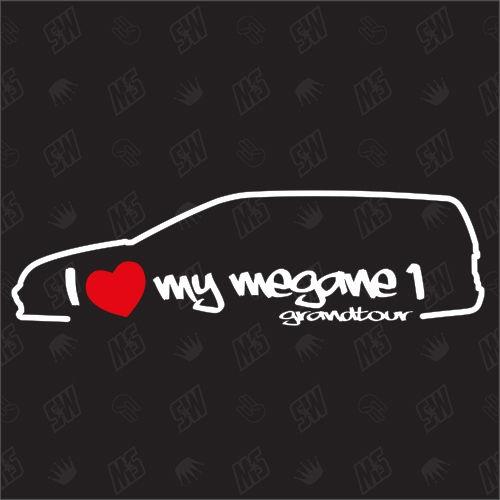 I love my Renault Megane 1 Grandtour - Sticker Bj.99-03